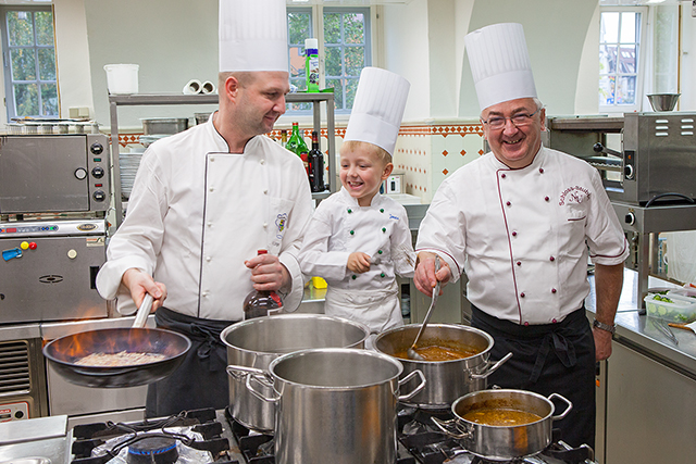 Our chefs are Frank, Jonas and Norbert Ungerecht.